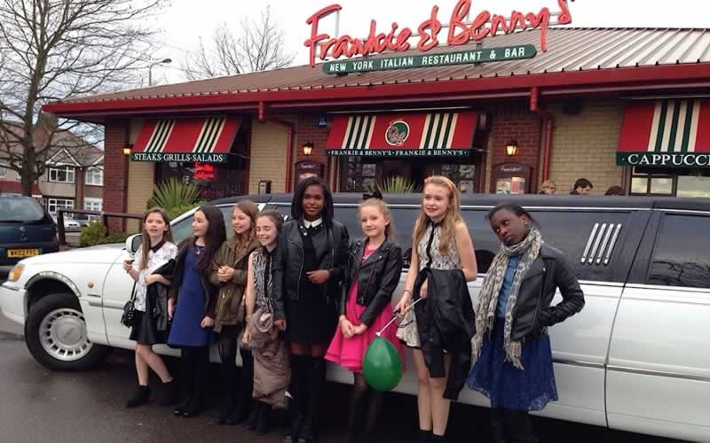 Lincoln Limo at Frankie & Benny's Kids Limo Parties]