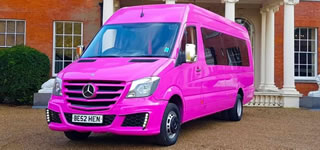 Mercedes Pink Party Bus Hire